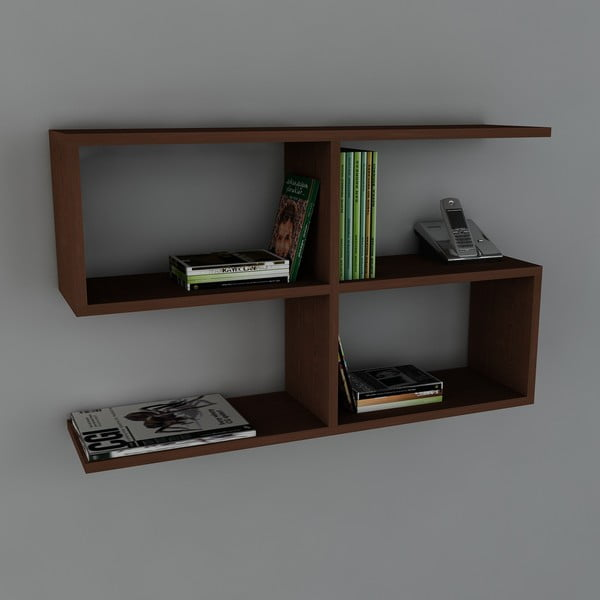 Półka Belitz Book Wenge, 22x90x55,5 cm