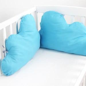 Bawełniany ochraniacz do łóżeczka Mr. Fox Nube Turquoise, 60x40cm