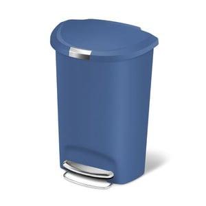Kosz na śmieci z pedałem Roundes 50 l, niebieski