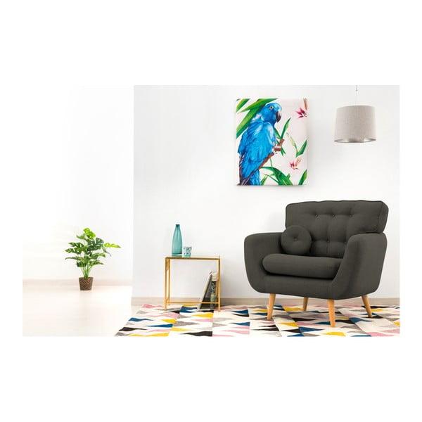 Ciemnoszary fotel z poduszką VIVONITA Malva