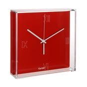 Czerwony zegar wiszący Kartell Tic & Tac New