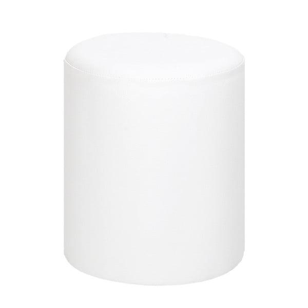 Okrągły puf Rodhio, biały