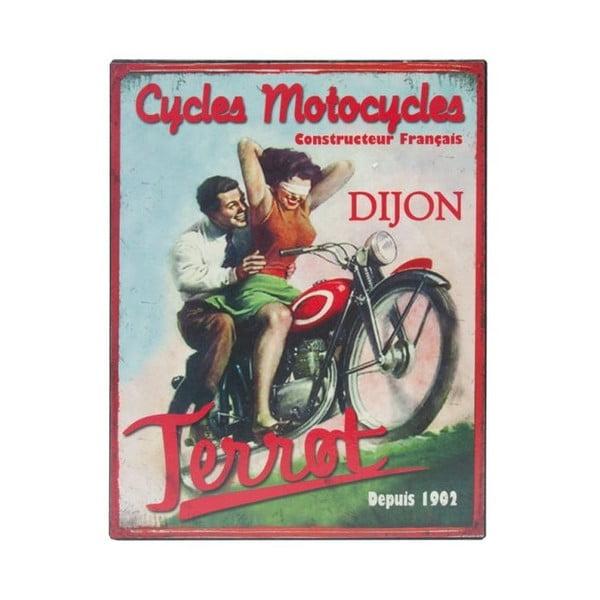 Blaszana tablica Moto, 28x22 cm