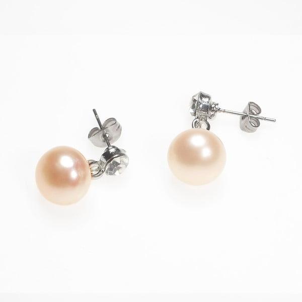 Kolczyki z różową perłą i kryształem Lucie Marková