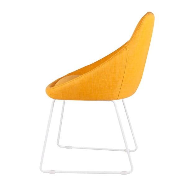 Zestaw 2 żółtych krzeseł sømcasa Alba