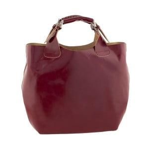 Skórzana torebka Everyday Italia, czerwona