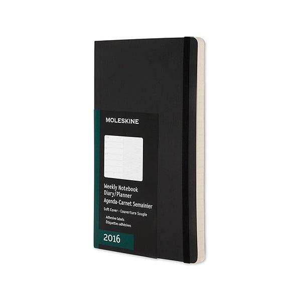 Notatnik tygodniowy  Moleskine Notebook, 9x14 cm