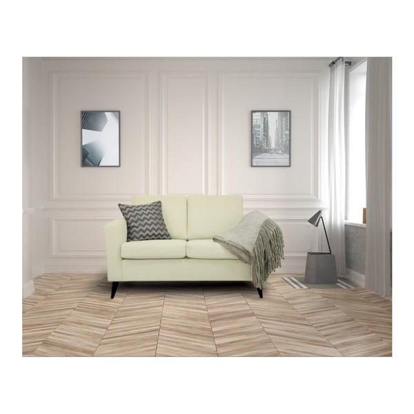 Beżowa sofa 2-osobowa z czarnymi nogami Helga Interiors Alex