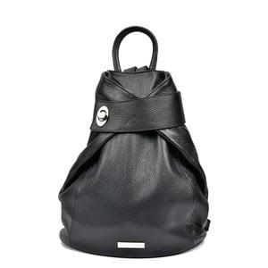 Czarny skórzany plecak Anna Luchini Louisa