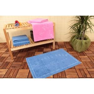 Dywanik łazienkowy i 4 ręczniki U.S. Polo Assn. Family Blue