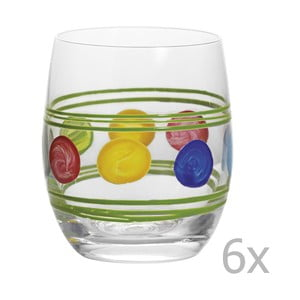 Zestaw 6 szklanek Summer Green
