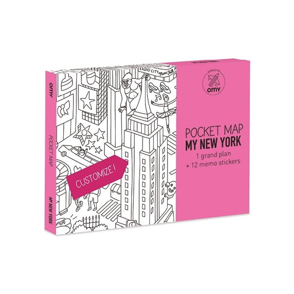 Kieszonkowa mapa-kolorowanka New York