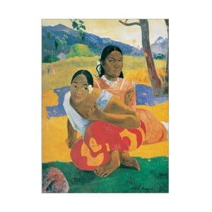 Obraz Paul Gauguin - Kiedy wyjdziesz za mąż?, 73x100 cm