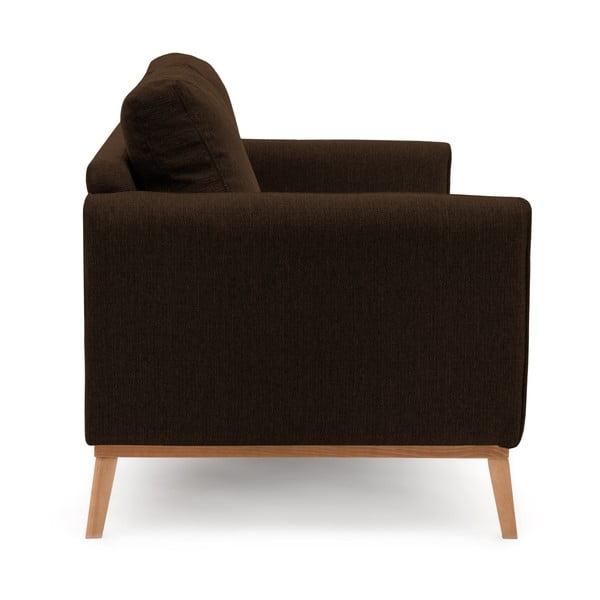 Ciemnobrązowa sofa trzyosobowa VIVONITA Milton