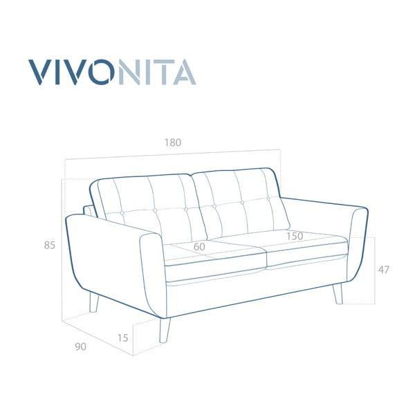 Beżowa sofa 2-osobowa Vivonita Harlem