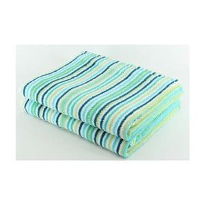 Komplet 2 ręczników Blue Stripes, 70x140 cm