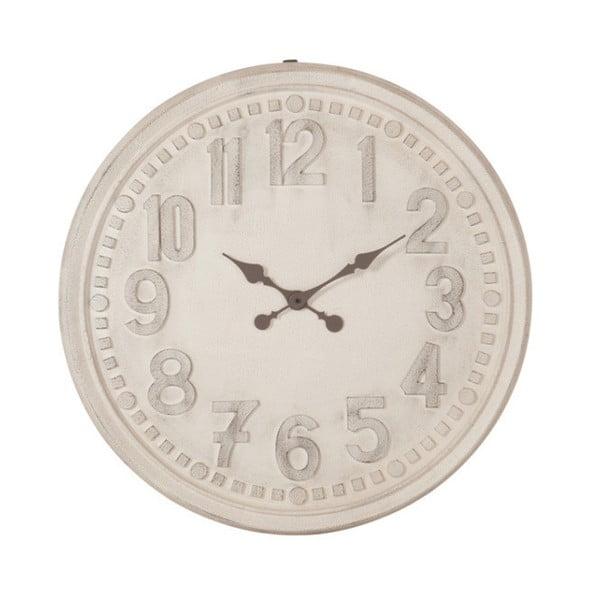 Biały ścienny zegar vintage J-Line, 78 cm