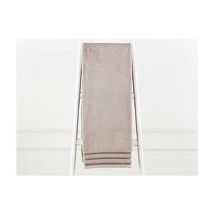 Szarobrązowy ręcznik bawełniany Emily, 90x150 cm