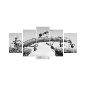 Wieloczęściowy obraz Black&White no. 5, 100x50 cm