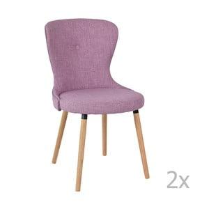 Zestaw 2 fioletowych krzeseł Ordinary