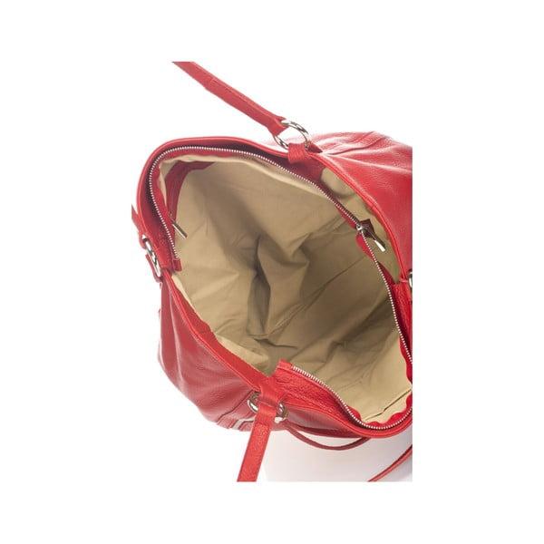 Skórzana torebka Krole Kelly, czerwona