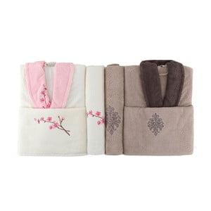Rodzinny zestaw szlafroków i ręczników Famie Lola