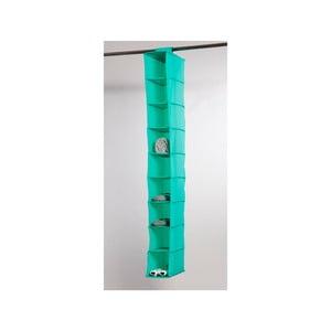 Zielony organizer materiałowy z 9 przegródkami Compactor Rack