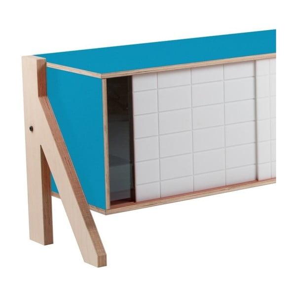 Niebieska komoda rform Frame, dł. 115 cm