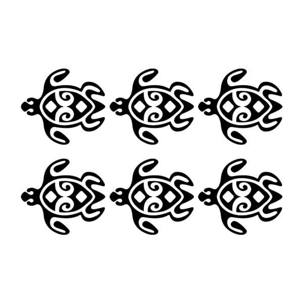 Zestaw 6 naklejek Ambiance Turtles Chain