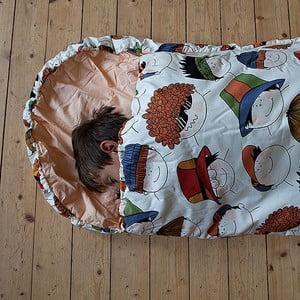 Dziecięcy śpiworek Bartex Wesołe buźki, 70x200 cm