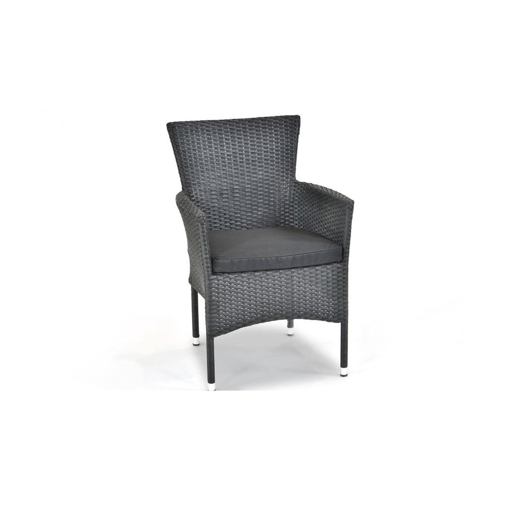 Czarne krzesło ogrodowe Timpana Buko