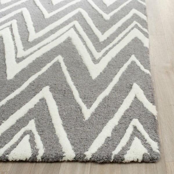 Wełniany dywan Luca Grey, 121x182 cm