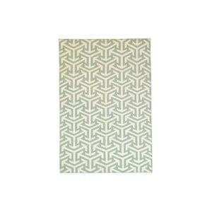 Dywan wełniany Kilim no. 307, 120x180 cm, zielony