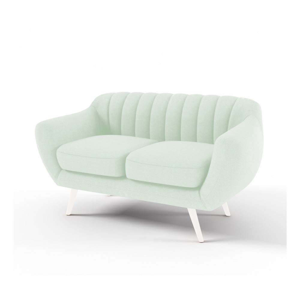 Pastelowo-zielona 2-osobowa sofa Vivonita Kennet