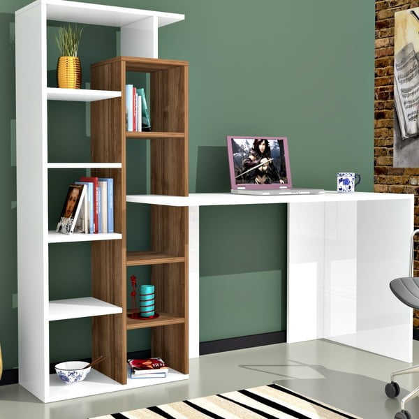 Biurko z biblioteczką Minar Poly
