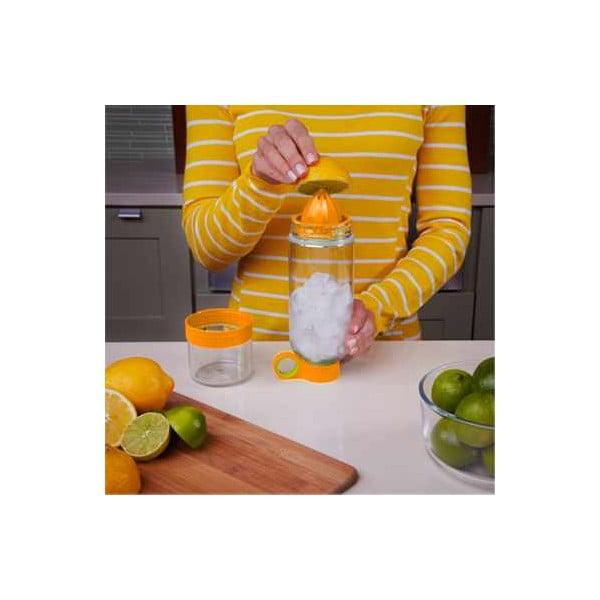 Butelka na wodę i cytrusy Citruszinger, pomarańczowa