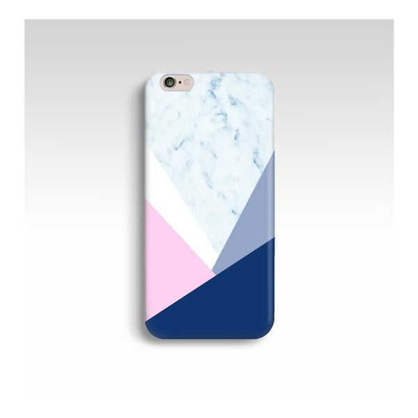 Etui na telefon Marble Navy Triangle na iPhone 6+/6S+