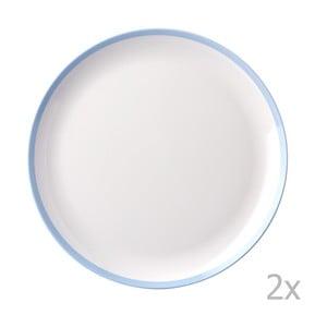 Zestaw 2 talerzy z niebieską krawędzią Rosti Mepal Flow,26cm