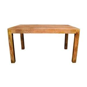 Stół z litego drewna mango Massive Home Ella, 90x120cm