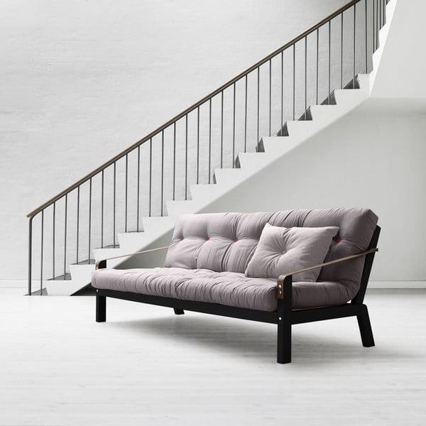Sofa rozkładana Karup Poetry Black/Gris/Light Bordeaux