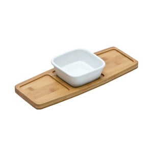 Deska do serwowania z miską Premier Housewares Bamboo Snack