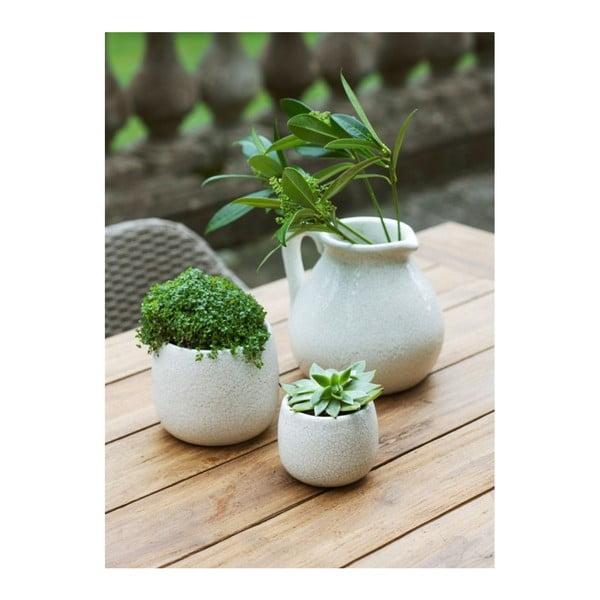 Biała doniczka Garden Trading Ravello, ⌀15,5cm