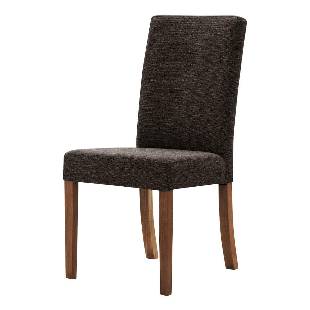 Brązowe krzesło z ciemnobrązowymi nogami Ted Lapidus Maison Tonka
