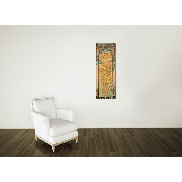 Obraz Alfons Mucha - Dzień, 30x90 cm