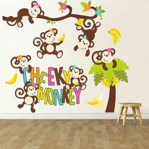 Naklejka ścienna Małpka, 90x60 cm