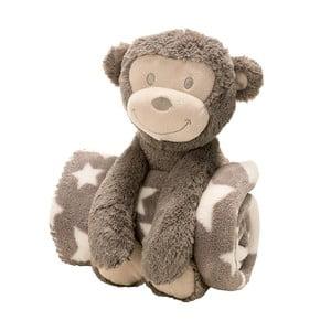Pluszowa małpka z kocykiem, 75x100 cm