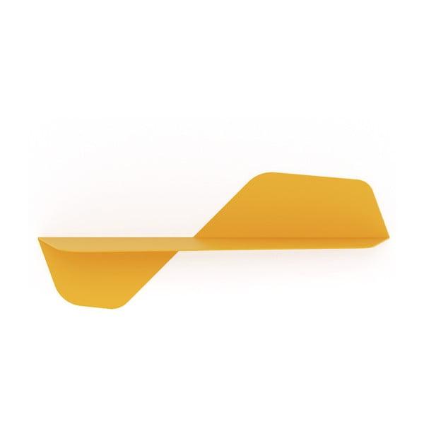Żółta półka ścienna MEME Design Flap, 80cm