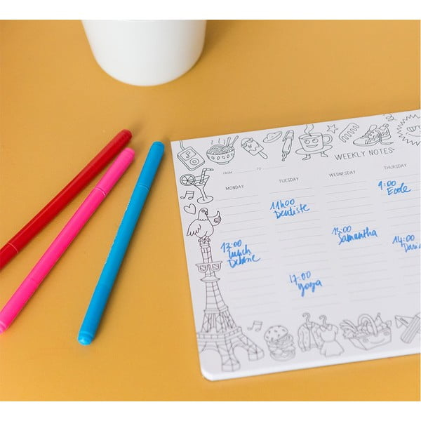Tygodniowy planer na biurko Coloring