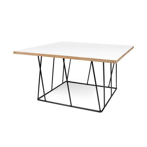 Biały stolik z czarnymi nogami TemaHome Helix, 75 cm