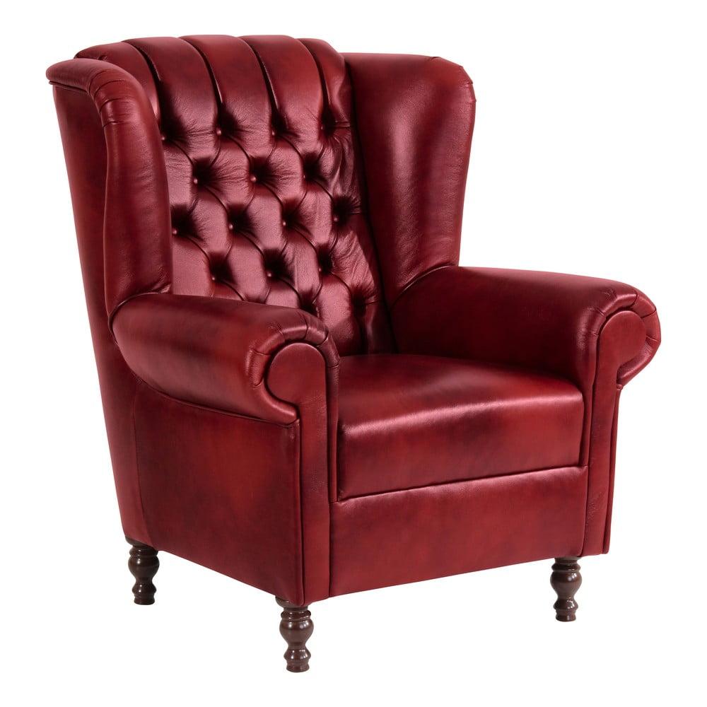 Czerwony fotel skórzany Max Winzer Vary